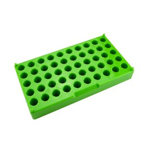 12mm Tube Rack. 50 Places, Polypropylene, Green